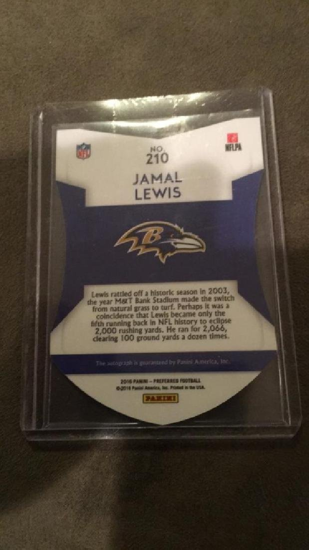 Jamal Lewis 2016 Panini preferred colorguard - 3