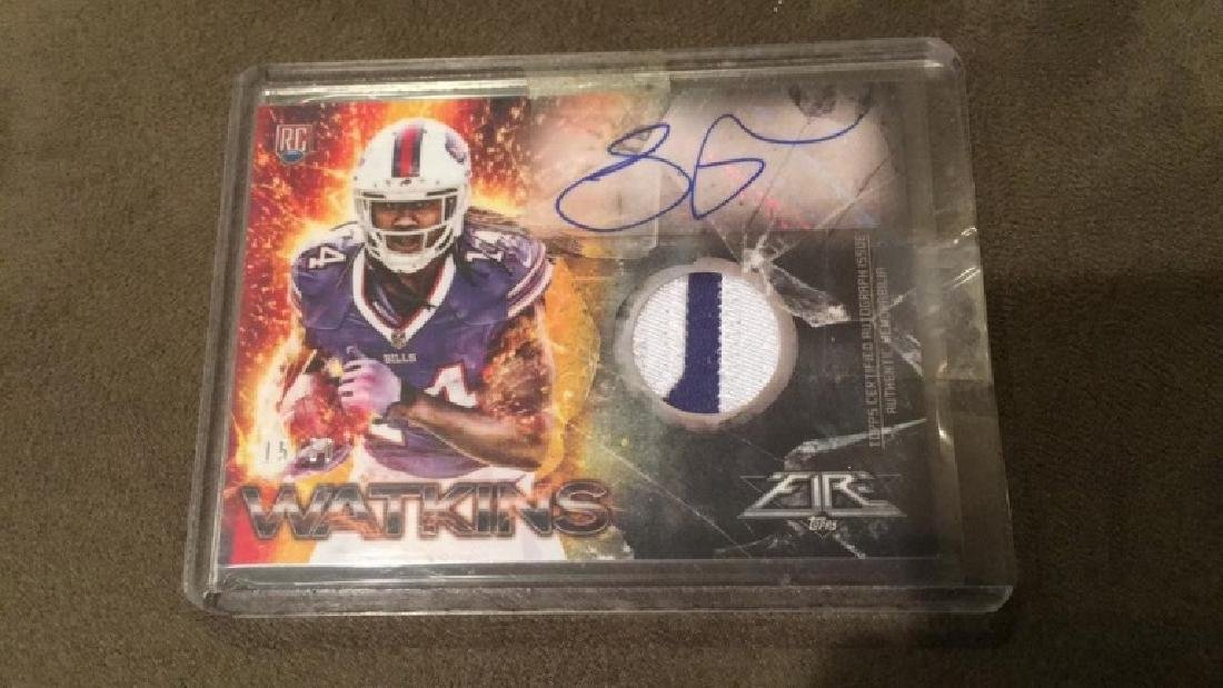 Sammy Watkins 2014 tops fire to color patch auto