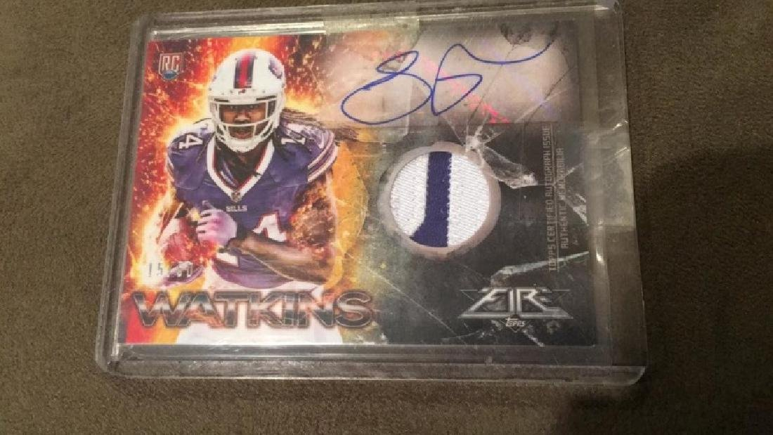 Sammy Watkins 2014 tops fire to color patch auto - 2