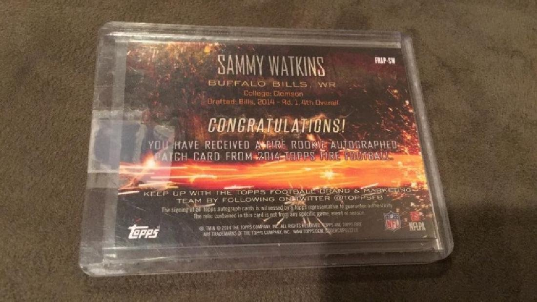 Sammy Watkins 2014 tops fire to color patch auto - 3