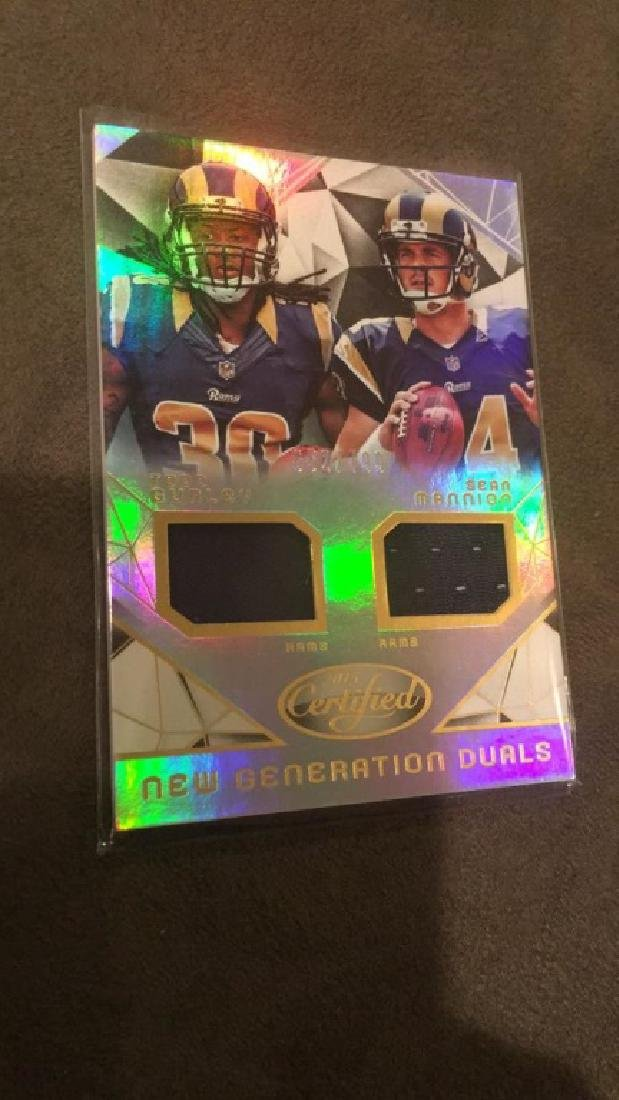Todd Gurley Sean Mannion 2915 Certified dual