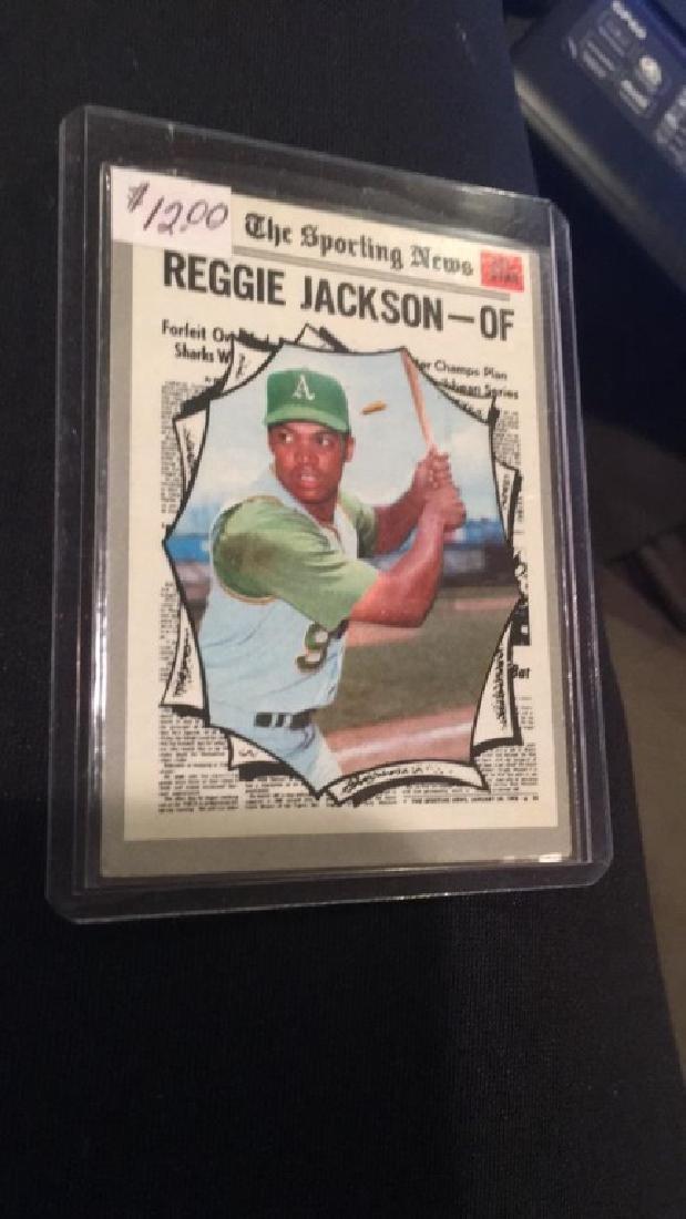 Reggie Jackson 1970 the sporting news vintage