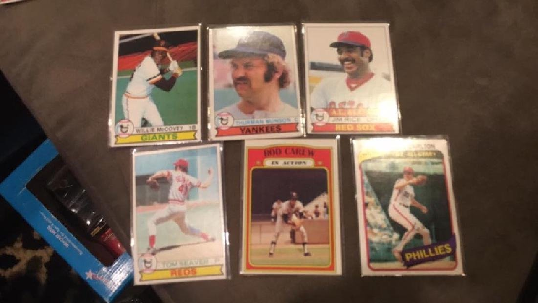 1979 tops Lot 1980 Steve Carlton 1972 Rod Carew