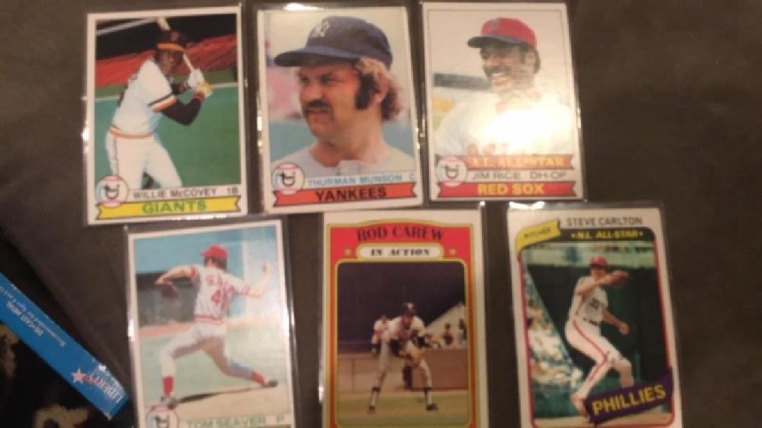1979 tops Lot 1980 Steve Carlton 1972 Rod Carew - 2