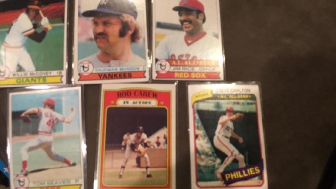 1979 tops Lot 1980 Steve Carlton 1972 Rod Carew - 3