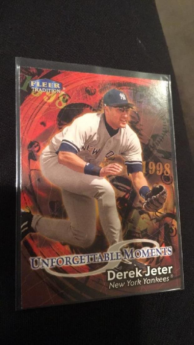 Derek Jeter 1998 fleer tradition unforgettable