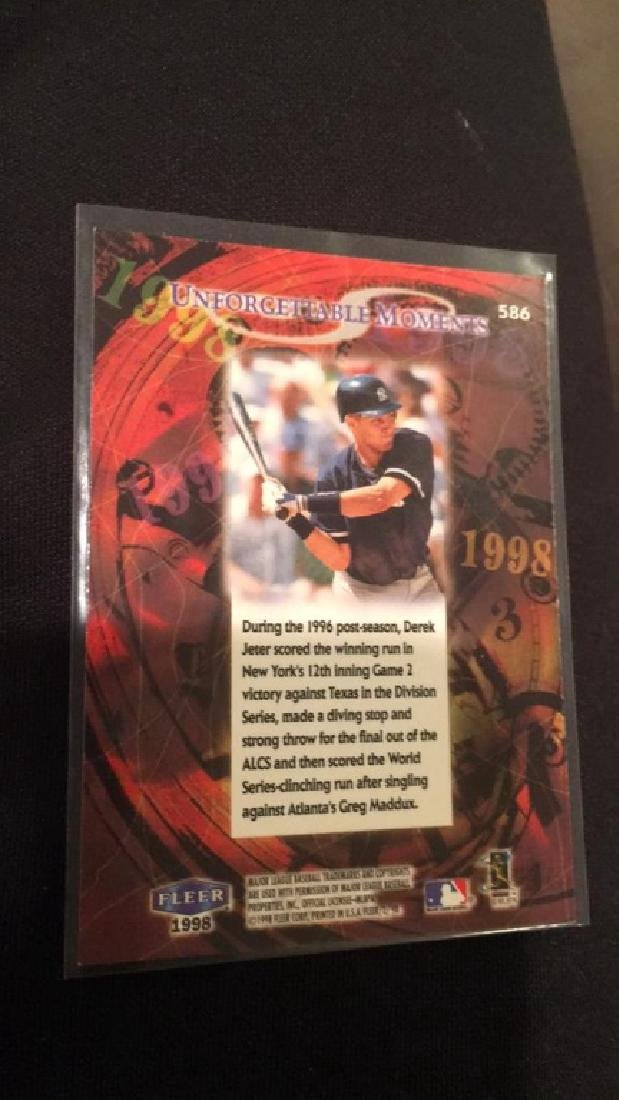 Derek Jeter 1998 fleer tradition unforgettable - 2