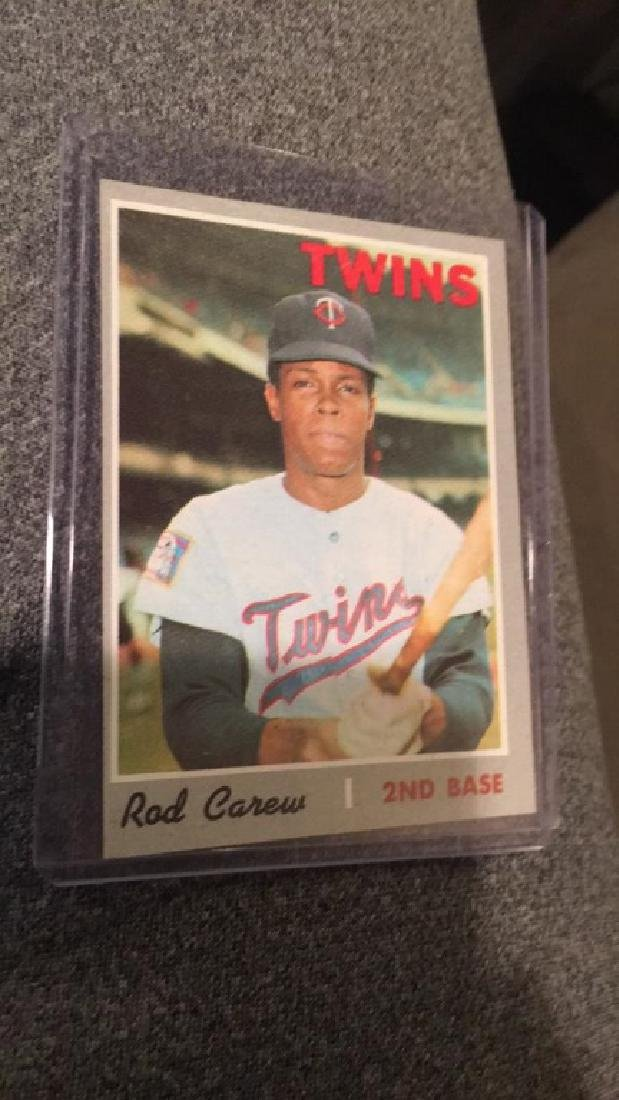 Rod Carew 1970 tops in awesome condition mint