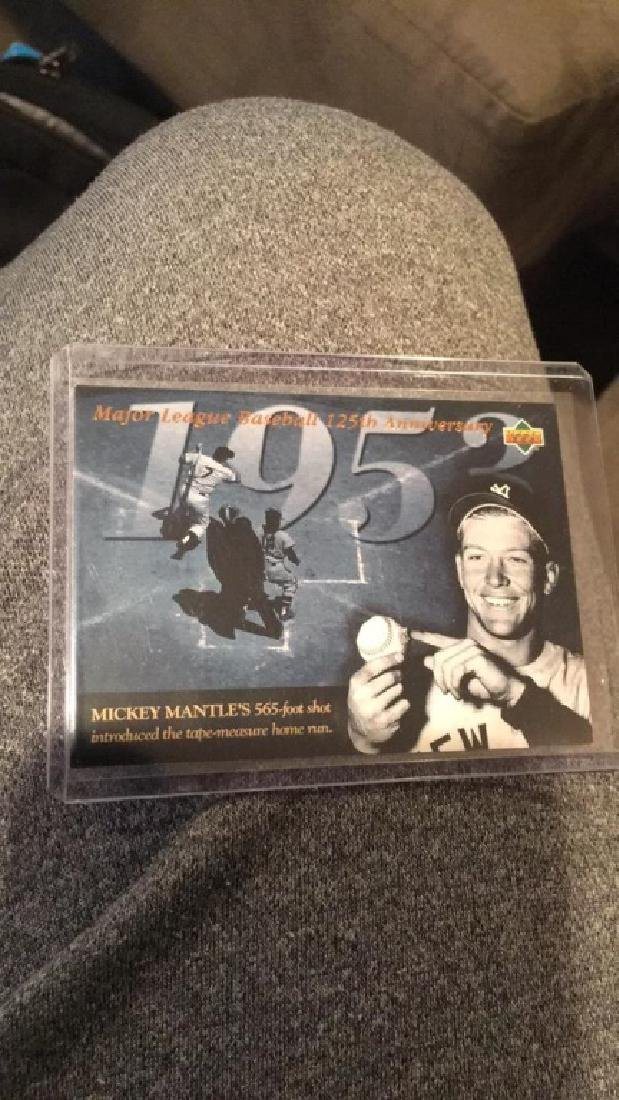 Mickey Mantle baseball 125th anniversary upper