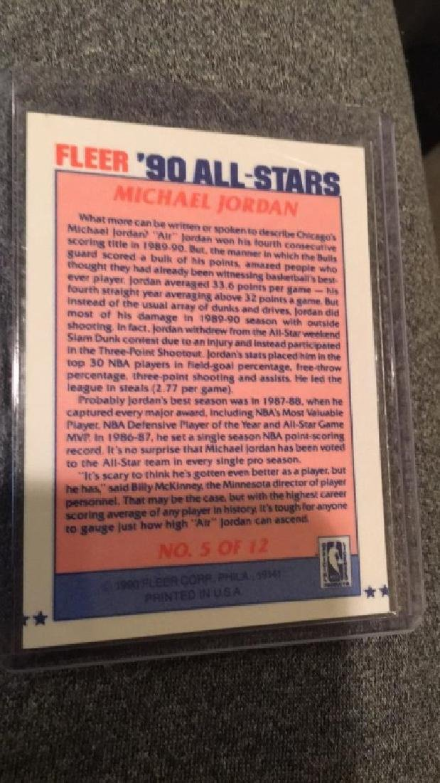 Michael Jordan 1990 Fleer all star - 2