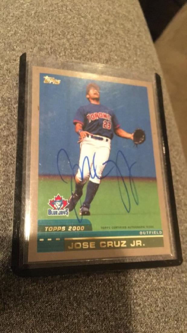 Jose Cruz Jr 2016 topps archives autograph - 2