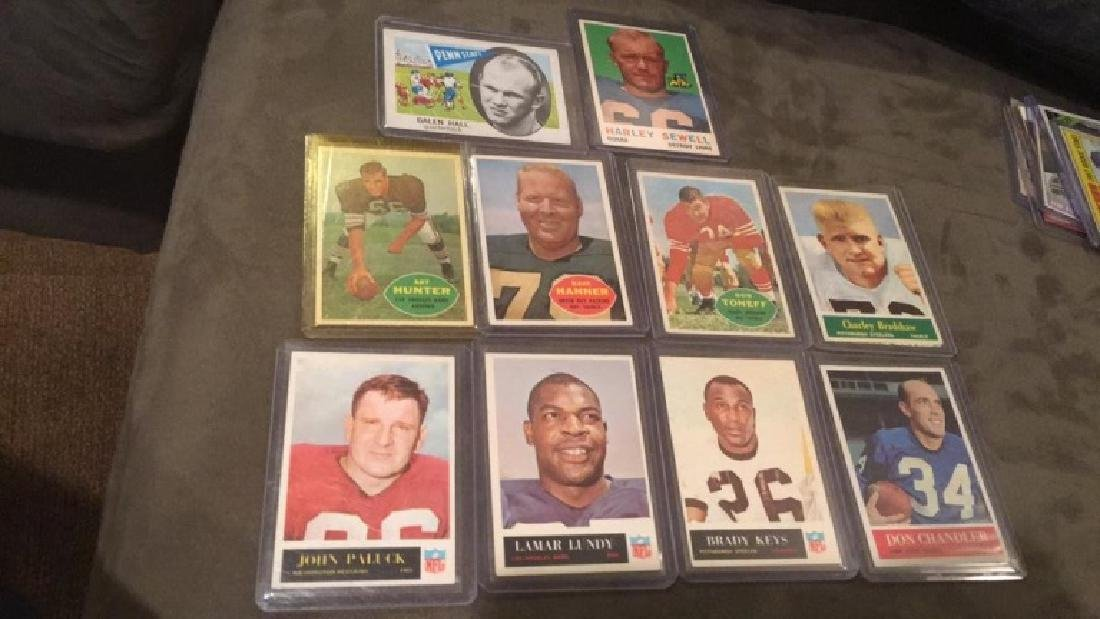 Vintage 1960s football card lot Charlie Bradshaw