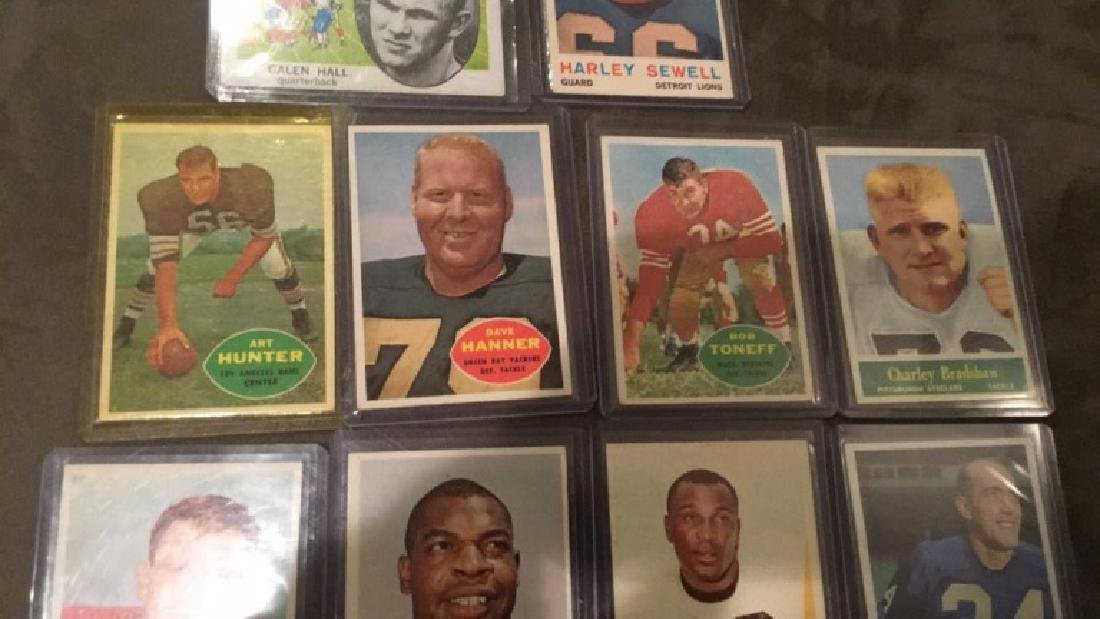 Vintage 1960s football card lot Charlie Bradshaw - 3