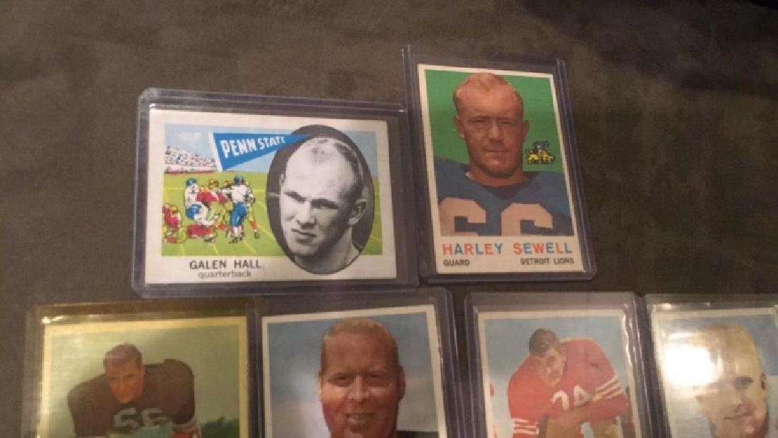 Vintage 1960s football card lot Charlie Bradshaw - 4
