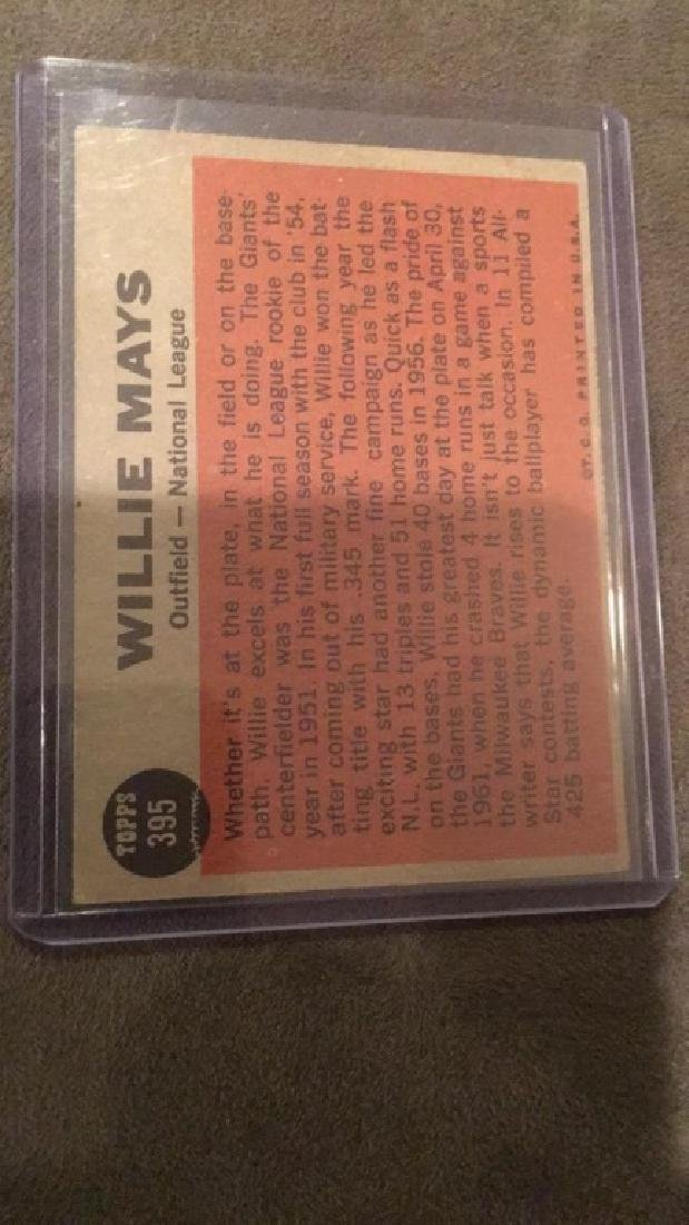 Willie Mays 1962 The Sporting News - 2