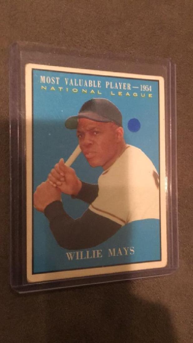 Willie Mays 1954 MVP Card