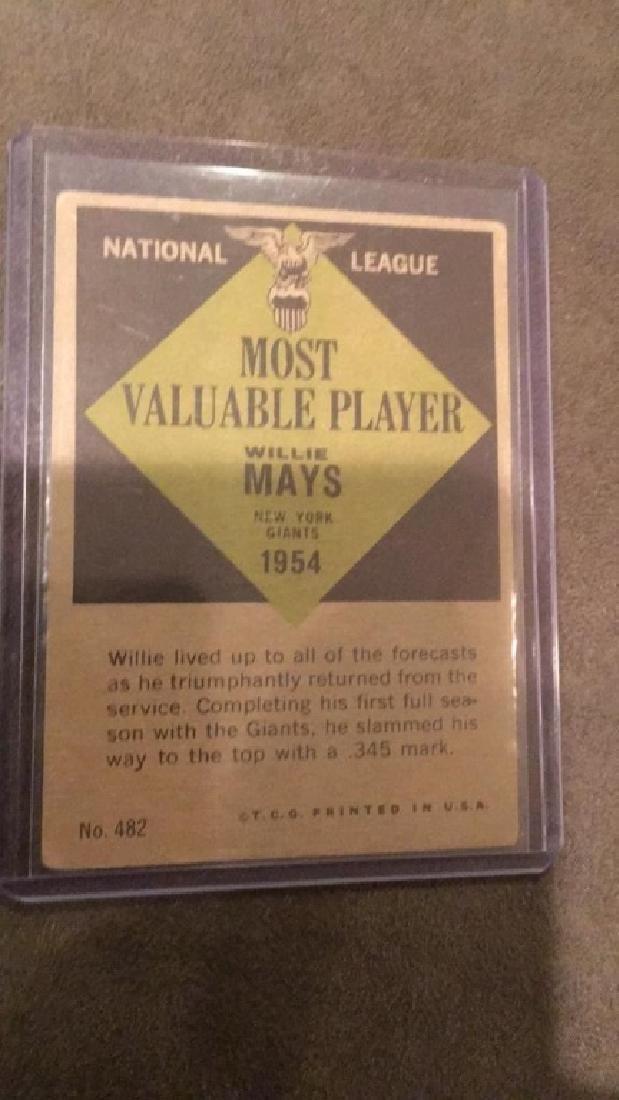 Willie Mays 1954 MVP Card - 2