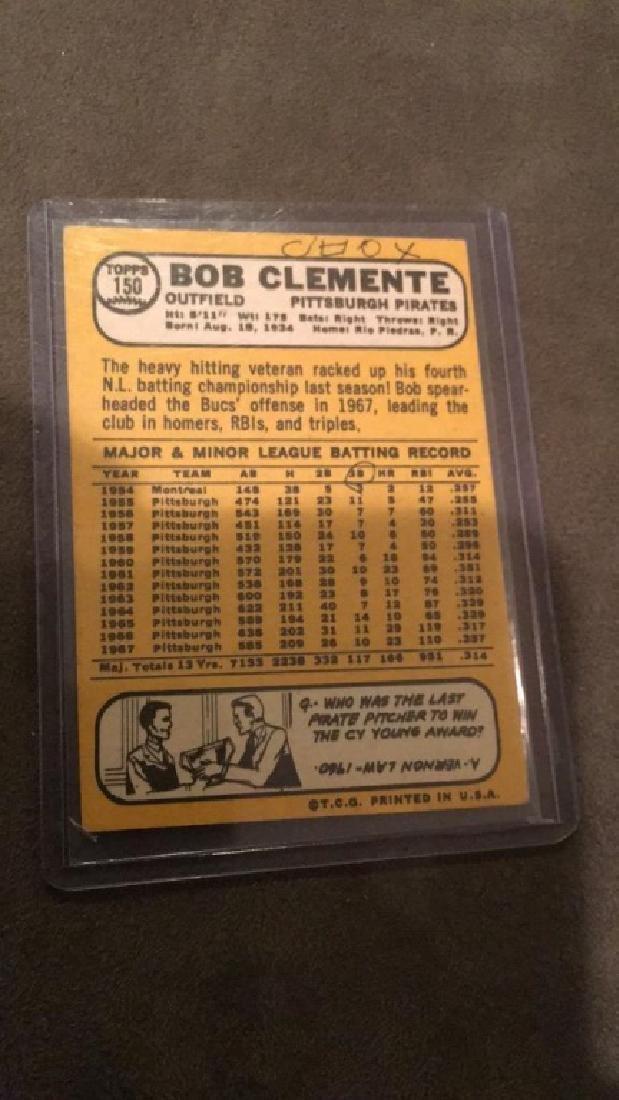 Bob Clemente 1968 Topps #150 - 2