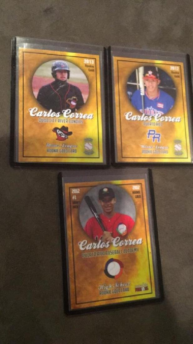 Carlos Correa Rookie Phenoms 3 card lot