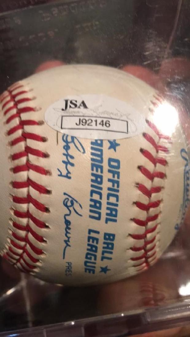 Whitey Ford autograph baseball with JSA COA JSA - 2