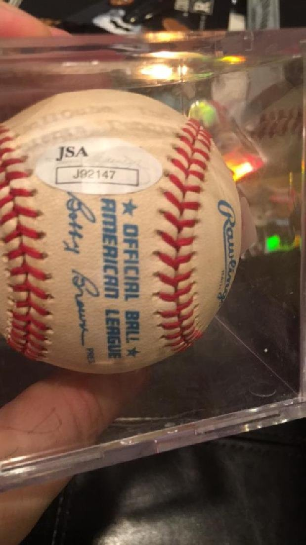 Jim Palmer autograph baseball certificate number - 2