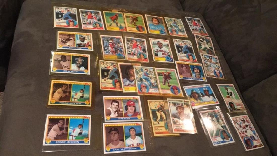 1983 tops vintage baseball card lot with stores