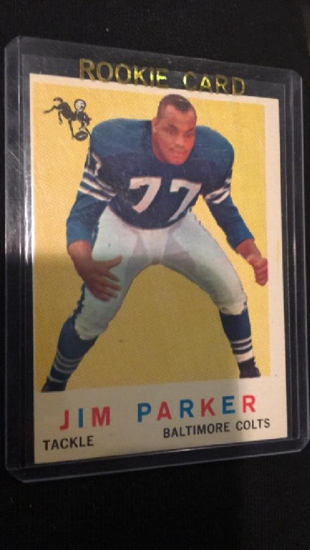 1959 tops Jim Parker rookie card Baltimore Colts