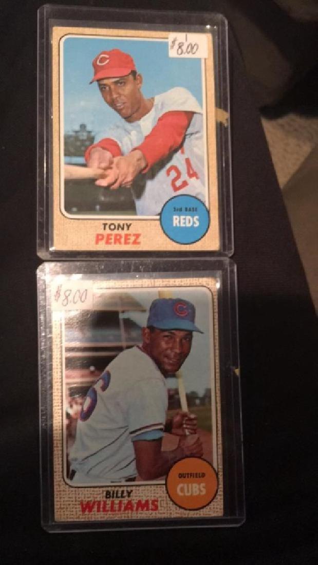 Tony Perez and Billy Williams 1968 Topps lot