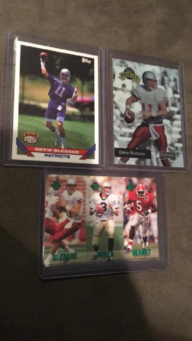 Drew Bledsoe RC lot three rookie cards