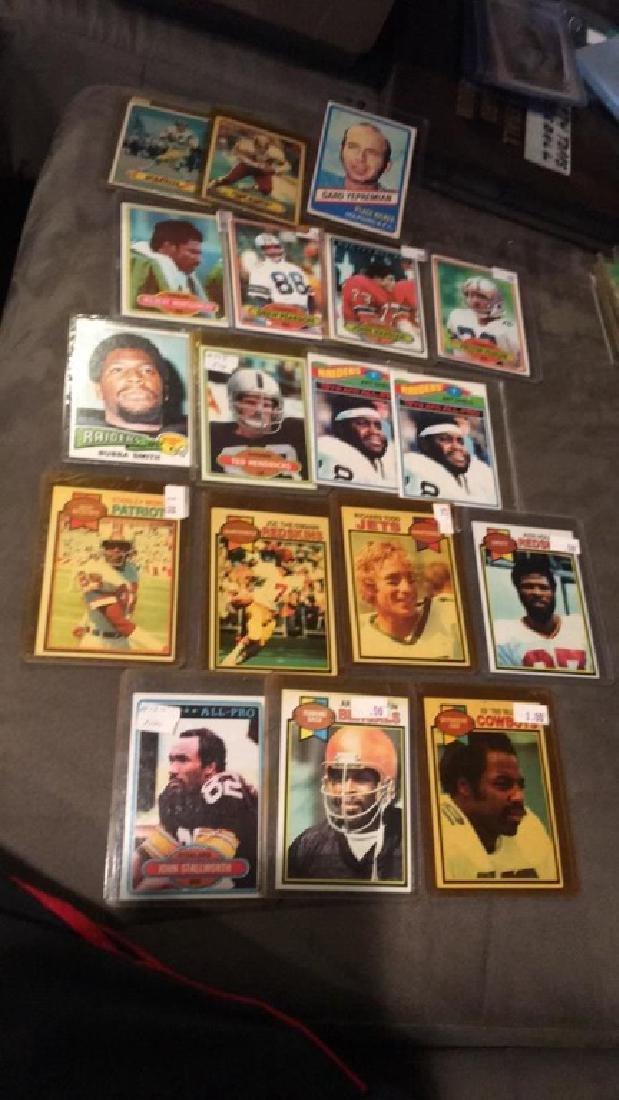 Vintage football card lot or at shell Joe