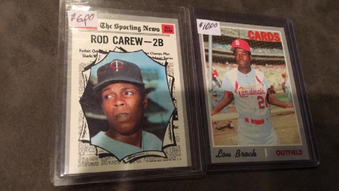 1970 Topps Rod Carew Lou Brock lot both in nice