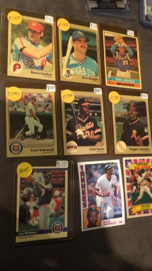 Vintage baseball card lot Steve Carlton Reggie