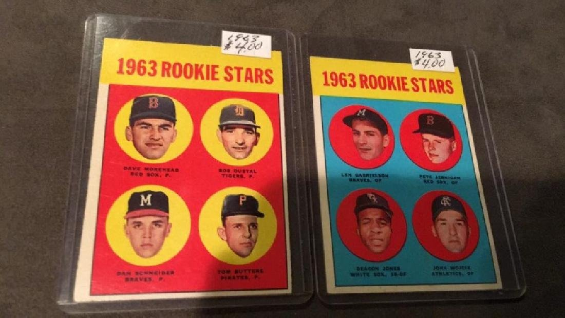 1963 Topps RC card lot
