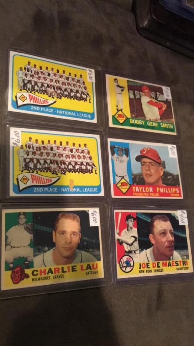 Early 1960s vintage baseball card lot Taylor