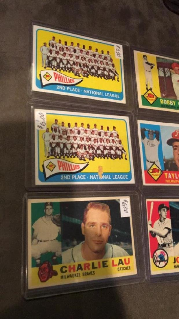 Early 1960s vintage baseball card lot Taylor - 2
