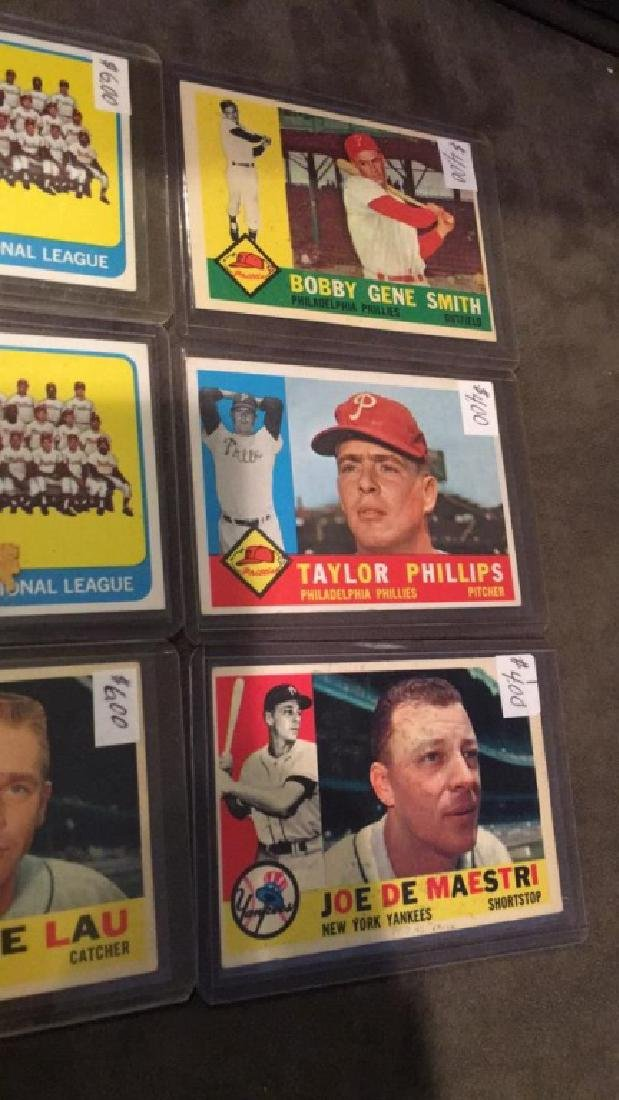 Early 1960s vintage baseball card lot Taylor - 3