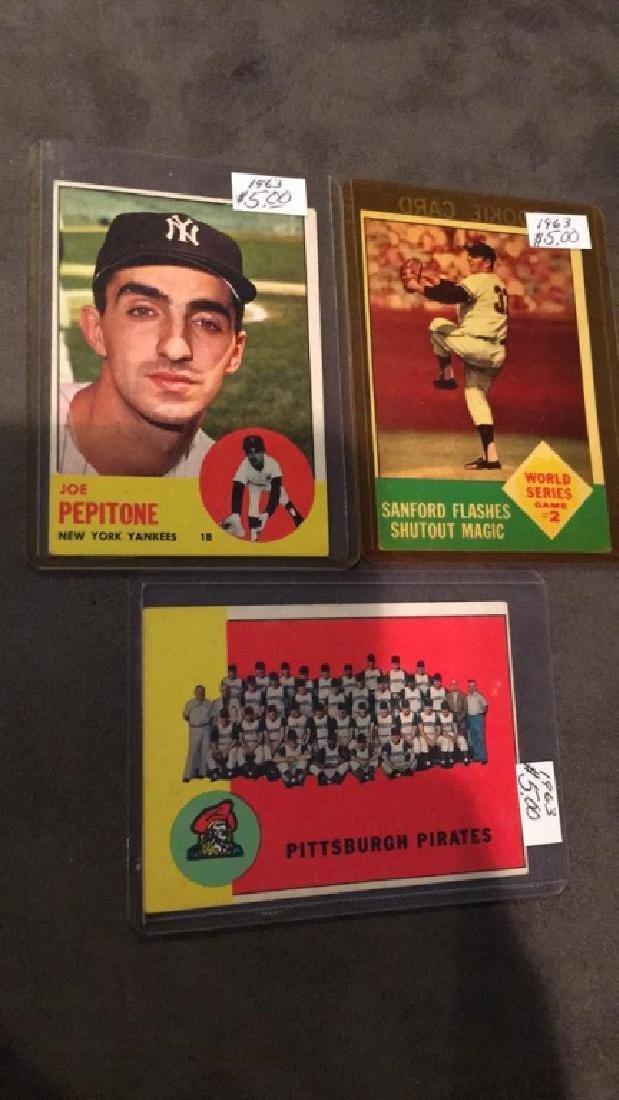 1963 Topps Lot Joe Pepitone Sanford and