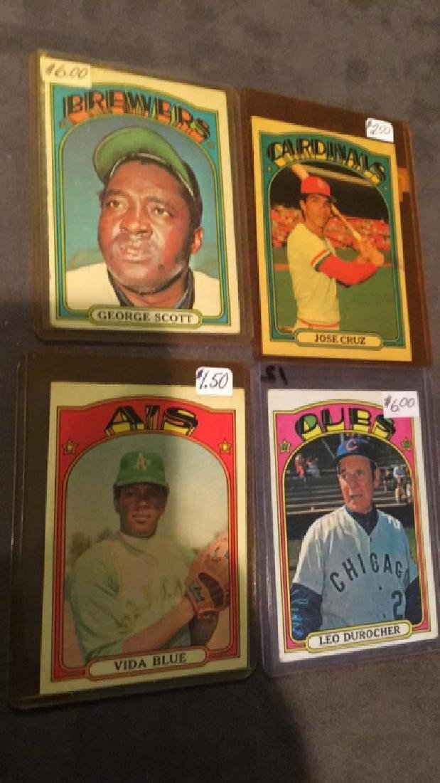 1972 Topps Lot Scott Blue Cruz and more
