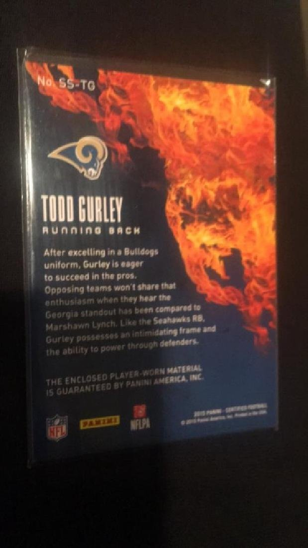 Todd Gurley 2015 certified patch /399 RC - 2