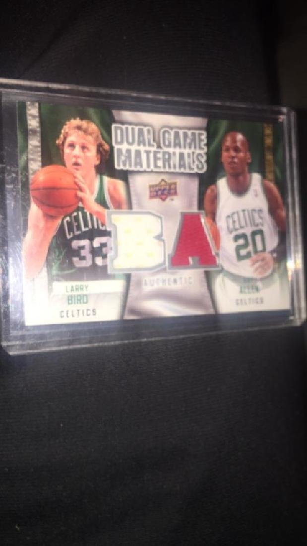 Larry Bird Ray Allen 2009-10 upper deck dual gem
