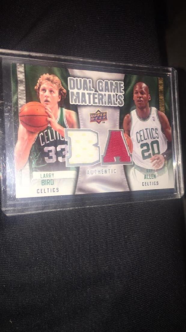 Larry Bird Ray Allen 2009-10 upper deck dual gem - 2