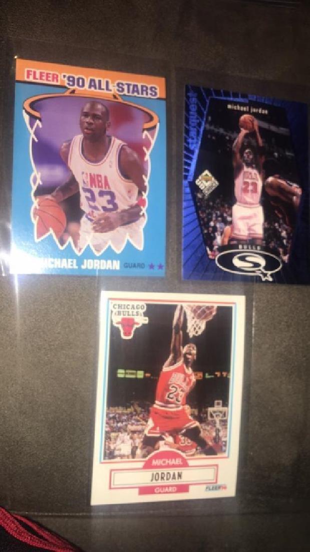 Michael Jordan 3 card lot with 1990 all star