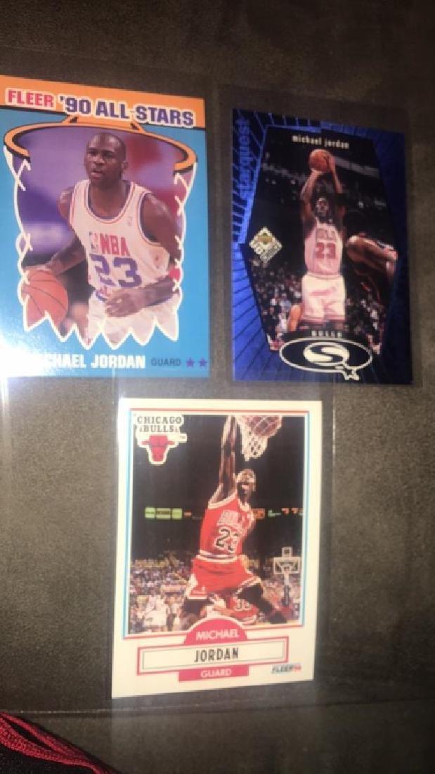 Michael Jordan 3 card lot with 1990 all star - 2
