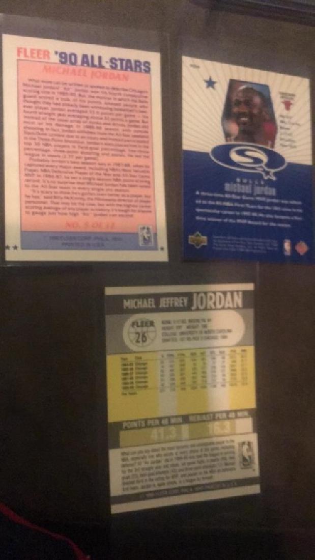 Michael Jordan 3 card lot with 1990 all star - 3