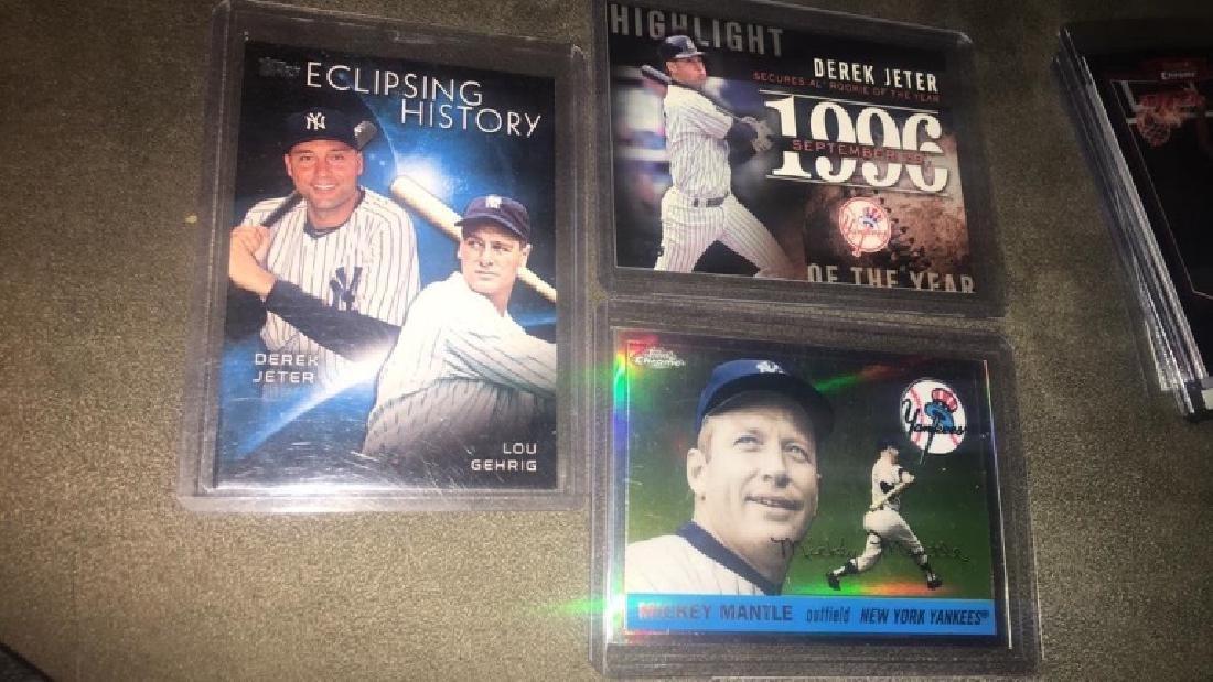 Derek Jeter Lou Gehrig  Mickey Mantle tops insert - 2