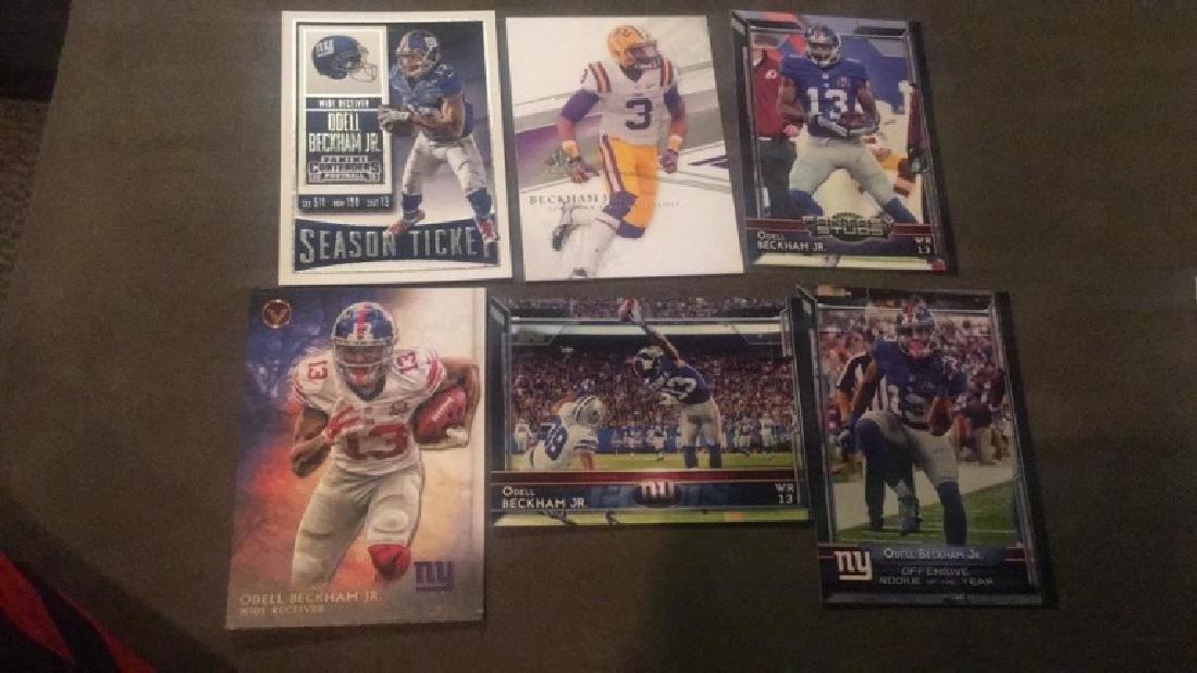 Odell Beckham Jr 6 card lot