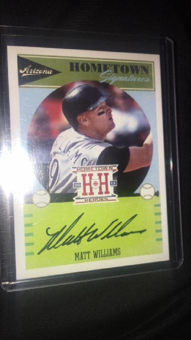 Matt Williams Panini hometown heroes Auto