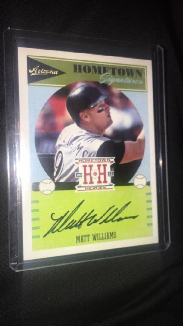 Matt Williams Panini hometown heroes Auto - 2
