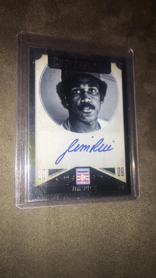 Jim Rice 2015 Cooperstown Auto