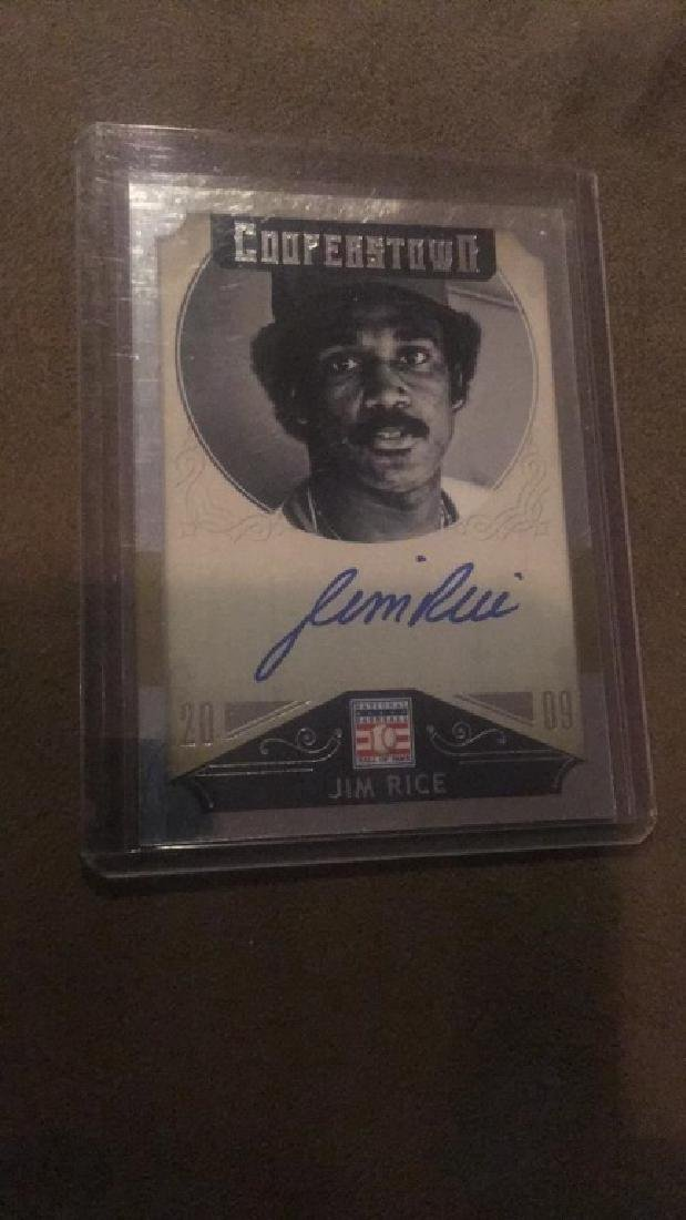 Jim Rice 2015 Cooperstown Auto - 2